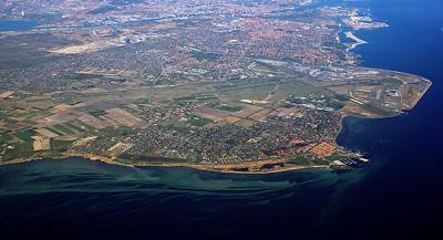 Aerial view of Copenhagen International Airport