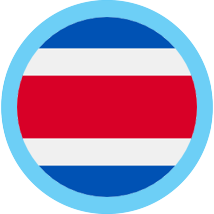 Costa Rica round flag blue border