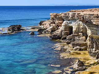 cyprus cliffs and water