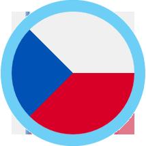 Czech Republic round flag blue border