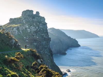 A photo of a rugged coastline in Devon