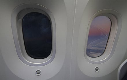 tinted windows on dreamliner