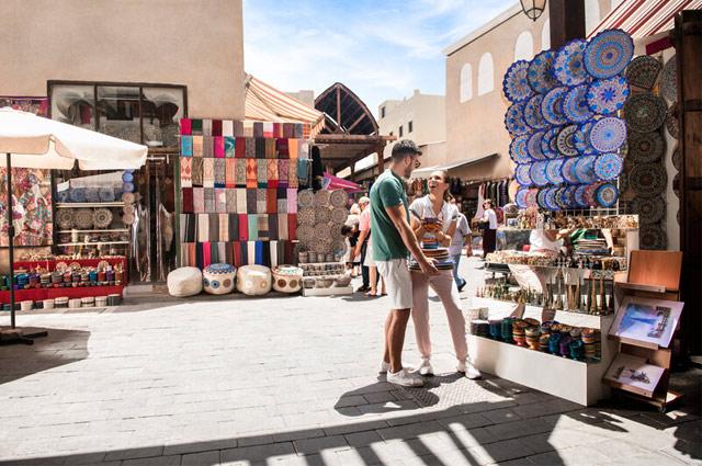 People at market in Dubai