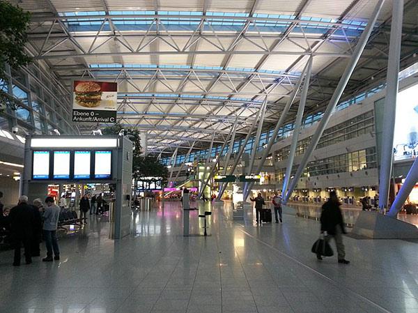 Internal view of Dusseldorf airport