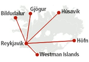 Eagle Air Iceland route map