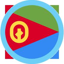 Eritrea flag round with blue border