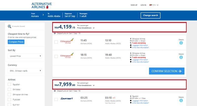 Alternative Airlines Aruban Eritrea search results page