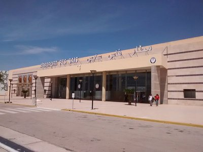 Exterior of Fes Airport Morocco