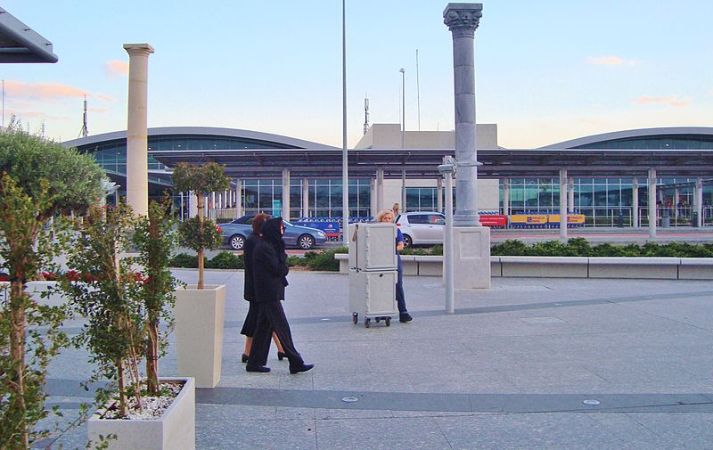 Exterior of Larnaca International Airport Cyprus