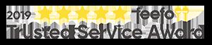 Feefo trusted service award banner 2019