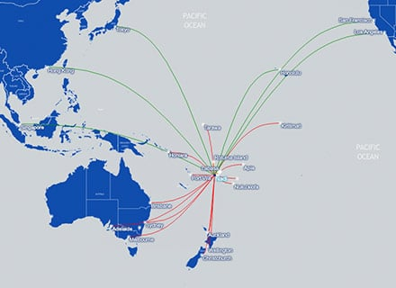 Fiji Airways Route Map May 2019