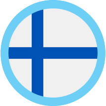 Finland round blue border