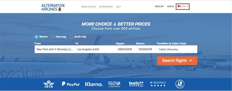 Alternative Airlines Flight Search JFK—LAX - 06/03