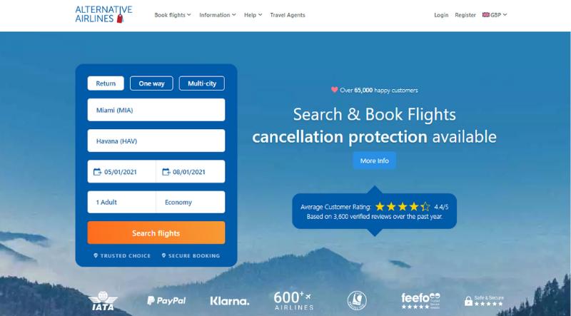 Flight_search_page_Litecoin