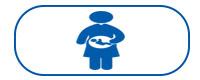 Blue pregnant woman icon