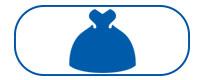 Blue wedding dress icon
