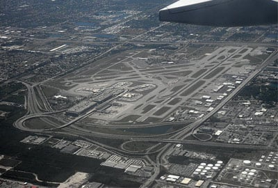 Aerial view of Fort Lauderdale Hollywood International Airport