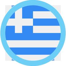 Greece round blue border