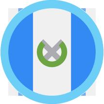 Guatemala round flag blue border