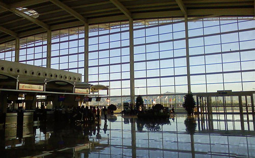 Inside of Hohhot Baita International Airport