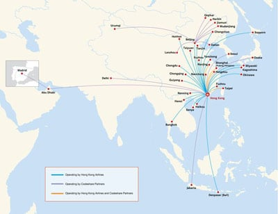 Hong Kong Airlines Route Map