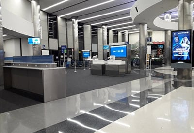 Inside LAX International Airport