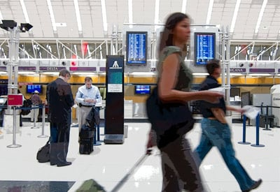 San Antonio Airport Flight Monitors