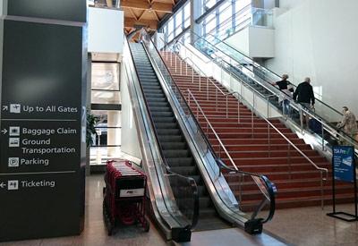 Inside Portland International Jetport