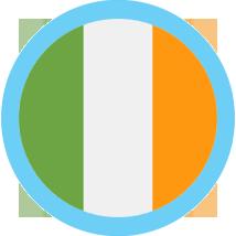 Ireland Flag Round Blue Border