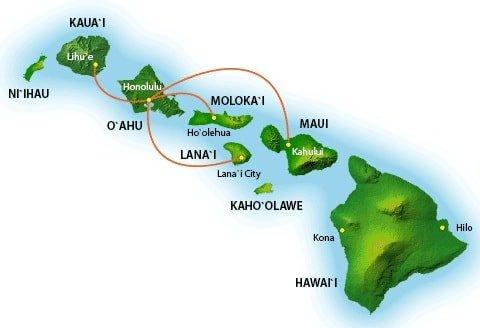 Island Air Route Map