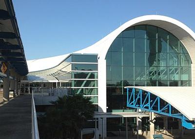 Exterior shot of JAX terminal building