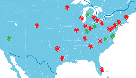 JAX route map