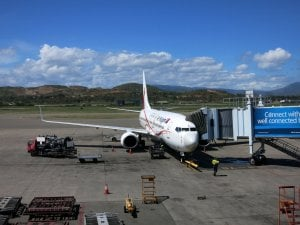 Airlines PNG plane at Jacksons International Airport