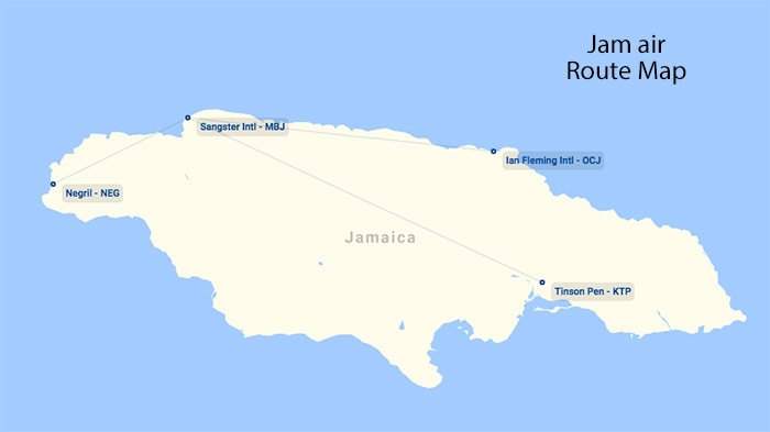 Jam air Route map