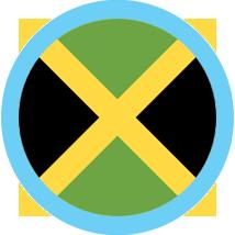 Jamaica round flag blue border