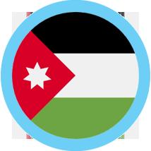 Jordan round flag blue border