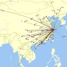 Juneyao Airlines Route Map