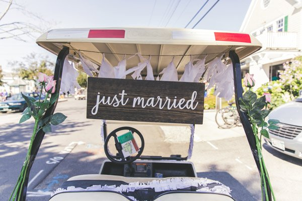 Just Married Wedding Cart