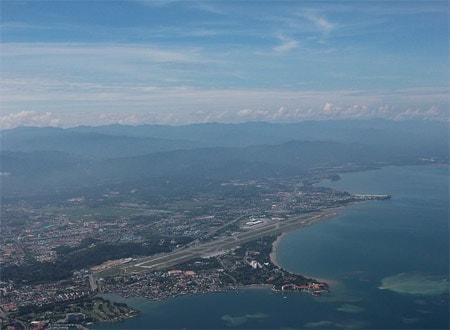 Birds eye view of Kota Kinabalu Airport