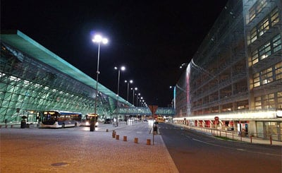 Outside the front of Krakow airport