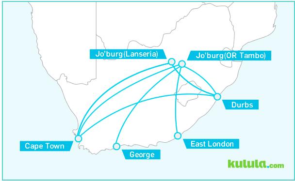 Kulula Route Map