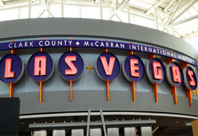 The front of Las Vegas McCarran International Airport