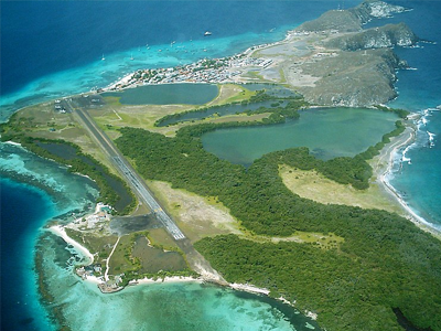 Los Roques Airport in the island of Los Roques