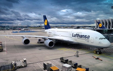 Lufthansa Airbus A380 aircraft