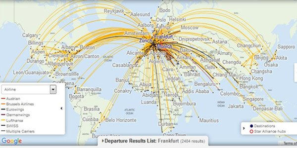 Lufthansa Route Map