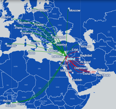 MEA Route Map
