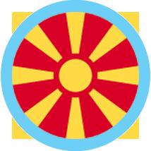 North Macedonia icon round blue border