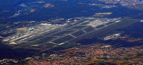 Aerial View Milan Malpensa Airport