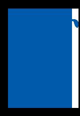 Man playing golf icon dark blue