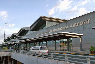Ninoy Aquino Airport, exterior shot of entrance to main terminal building